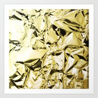 gold foil Art Prints featuring Gold foil by lamottedesign
