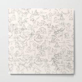 Yoga Manuscript Metal Print