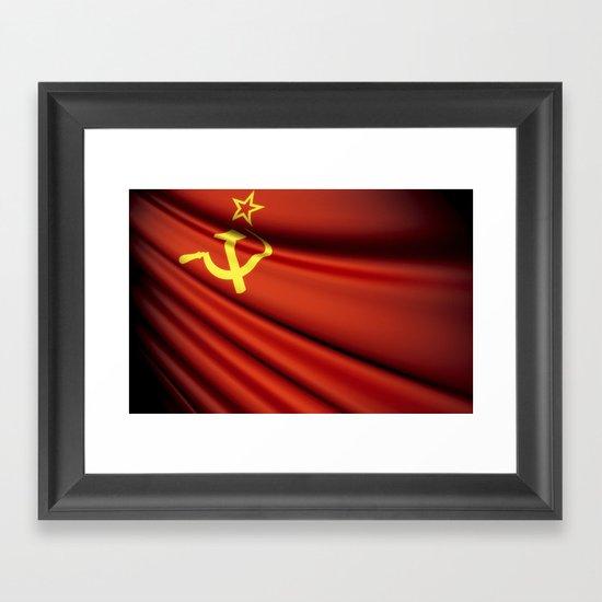 Flag of Soviet Union (1922-1991) Framed Art Print
