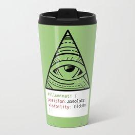 CSS Pun - Illuminati Travel Mug