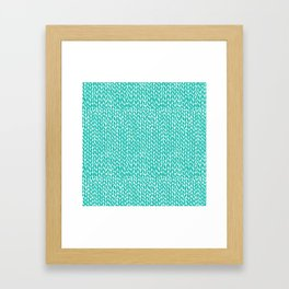 Hand Knit Aqua Framed Art Print