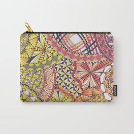 Zentangle Inspired Art - Autumn/ Fall Colours Carry-All Pouch