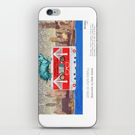 """Brooklyn"" in words & image (Denis Dubois) iPhone Skin"