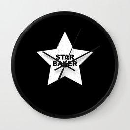 Star Baker Gift Chefs Baking Lovers Wall Clock