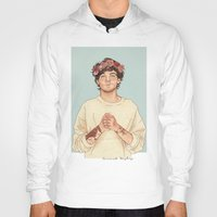 coconutwishes Hoodies featuring Tommo Flower crown by Coconut Wishes