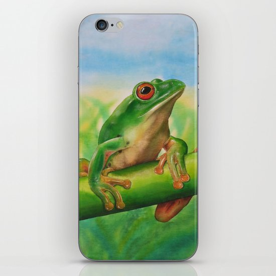 Green Treefrog iPhone & iPod Skin