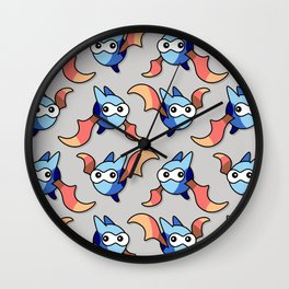 Fang Bat Pattern Wall Clock