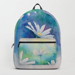 Spring watercolor daisies painting Backpack