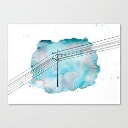 Telephone Pole Canvas Print