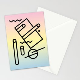 Abstract Memphis Art Stationery Cards