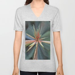 Flower Abstract Unisex V-Neck