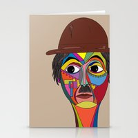 charlie chaplin Stationery Cards featuring Charlie Chaplin by JeeArt