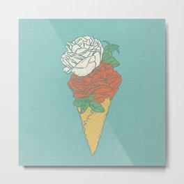 Rose ice cream Metal Print