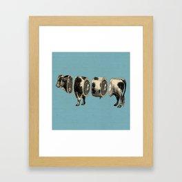 Deconstructed cow Framed Art Print