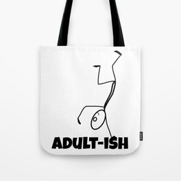 Adult-ish Funny Stick Figure Tote Bag