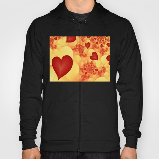 Love lets fly the Hearts Fractal Hoody