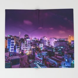 Oh Chi Minh City Throw Blanket