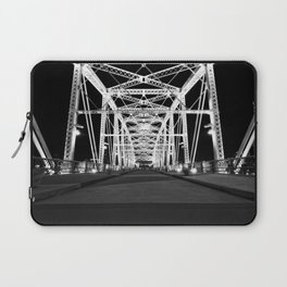 Shelby Street Bridge At Night Laptop Sleeve