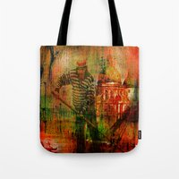 venice Tote Bags featuring Venice by Ganech joe