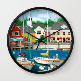Swans Haven Wall Clock