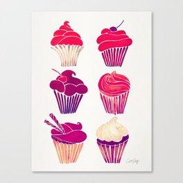 Cupcakes – Fuchsia Palette Canvas Print