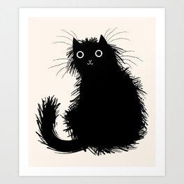 Moggy Art Print