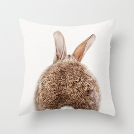 Bunny Tail, Bunny Rabbit, Baby Animals Art Print By Synplus Throw Pillow