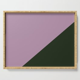 Faded purple & Army Green - oblique Serving Tray