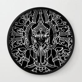 Gates of the Royal Palace Cambodia-Black and White Wall Clock