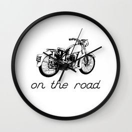 On the road - Vintage motorcycle Wall Clock
