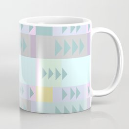 Simple Geometric Triangle Design in Pastel Colors Coffee Mug