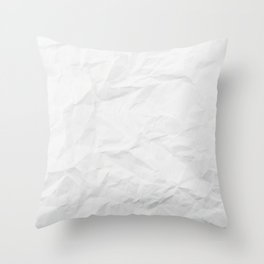 Texture Of Crumpled White Paper Throw Pillow