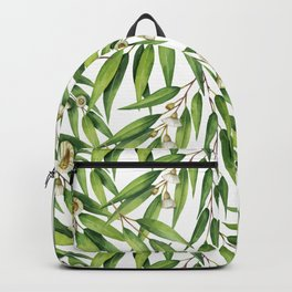 Exotic greenery pattern Backpack