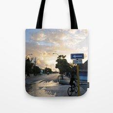 Biking the Streets of Varadero Tote Bag
