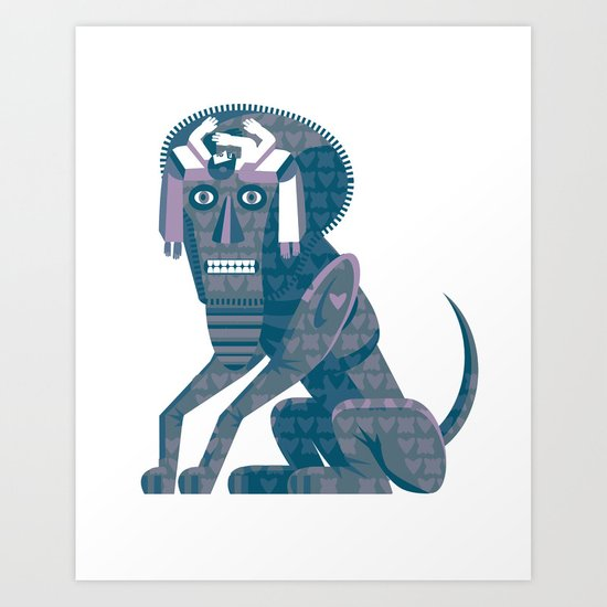 Father Kino's Little Dog Art Print