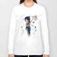 virgo Long Sleeve T-shirts featuring Virgo by Te Atarua