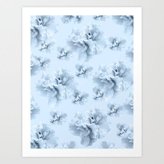 Light Blue Azalea Flower Dream #1 #floral #pattern #decor #art #society6 by anitabellajantz