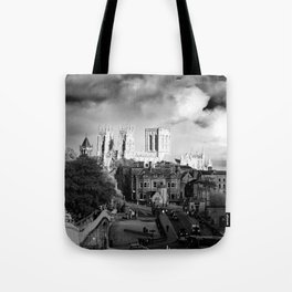 York Minster and walls in the sun Tote Bag