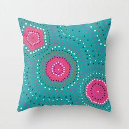 Shapes- aboriginal Throw Pillow