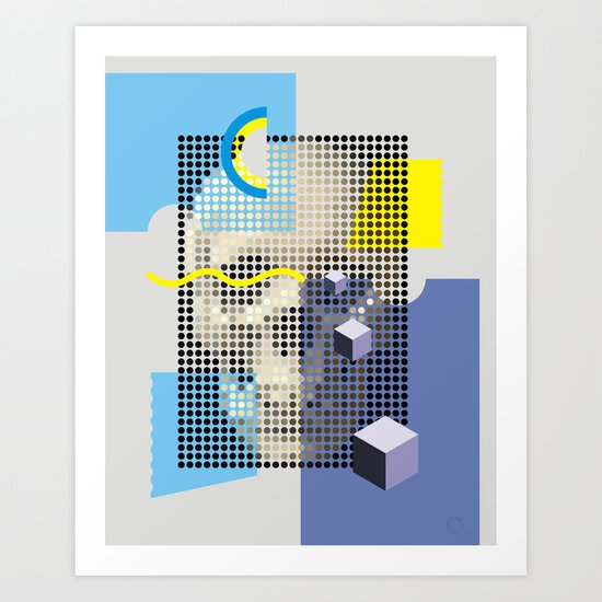 Compo with Skull Art Print