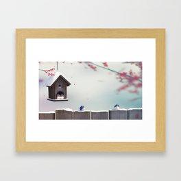 Winter's Garden Framed Art Print