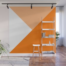 Orange Angles Wall Mural