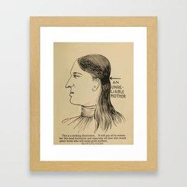 Vintage Art Print - Phrenology Diagrams from Vaught's Practical Character Reader (1902) Framed Art Print