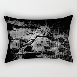 vancouver map canada Rectangular Pillow