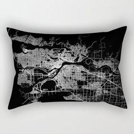 vancouver map canada Rectangular Pillow