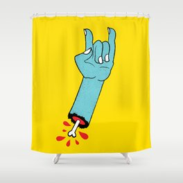 Throwin' Up the Horns Shower Curtain