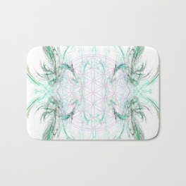 smoke on the flower of life Bath Mat