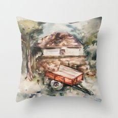 Old trailer Throw Pillow