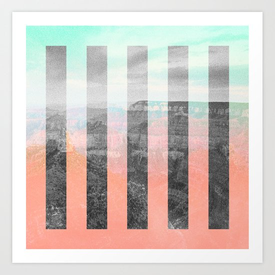 CANYON TRAIL Art Print