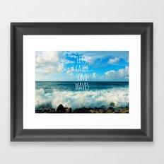 Wave Catcher Framed Art Print
